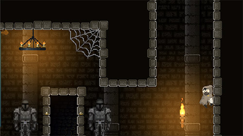 de souterrain Restless hero: Pixel art dungeon adventure en français