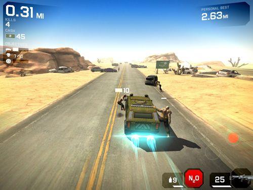 Screenshot Zombie Autobahn 2 auf dem iPhone
