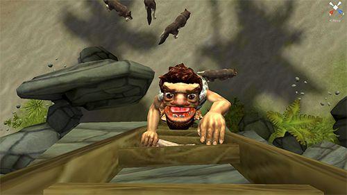 Screenshot Höhlenmensch-Jäger auf dem iPhone