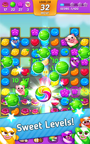 Arcade Lollipop: Sweet taste match 3 für das Smartphone