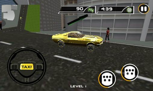 Crazy taxi driver: Rush cabbie in English