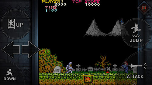 Pixelspiele Ghosts'n goblins mobile auf Deutsch