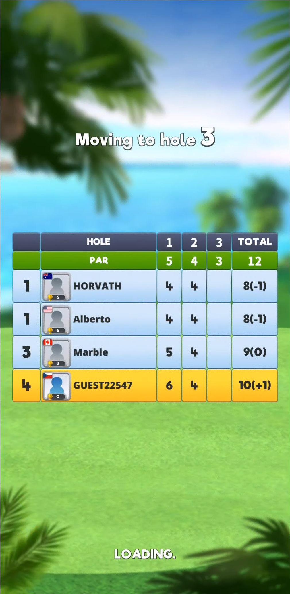 Extreme Golf - 4 Player Battle screenshot 1