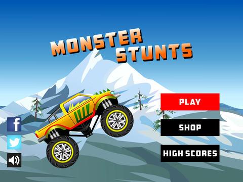 Arcade-Spiele: Lade Monster Truck Stunts auf dein Handy herunter