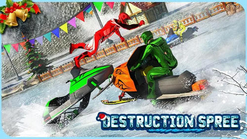 Snowmobile crash derby 3D für Android