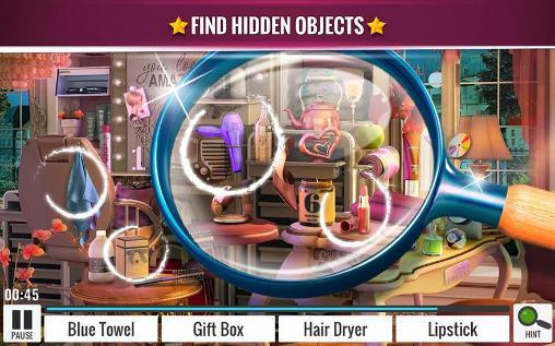 Abenteuer-Spiele Hidden objects: Beauty salon für das Smartphone