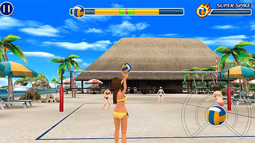 Beach volleyball paradise auf Deutsch