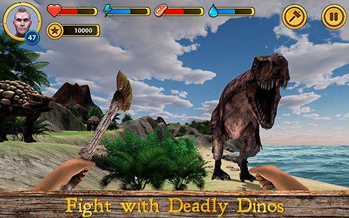 Выживание на острове динозавров для iPhone бесплатно