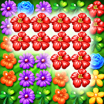 Garden flowers blossom icon