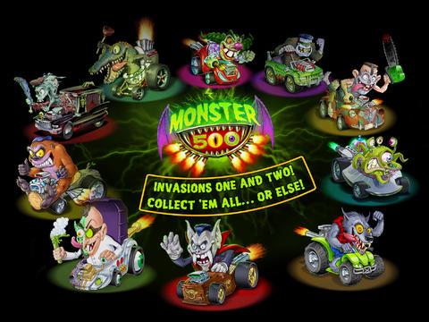 Captura de tela A Raça de Monstros 500 no iPhone