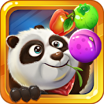 Panda and fruits farm Symbol
