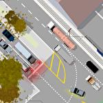 Traffic lanes 3 Symbol
