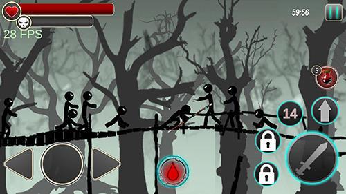 Kämpfen Stickman reaper für das Smartphone
