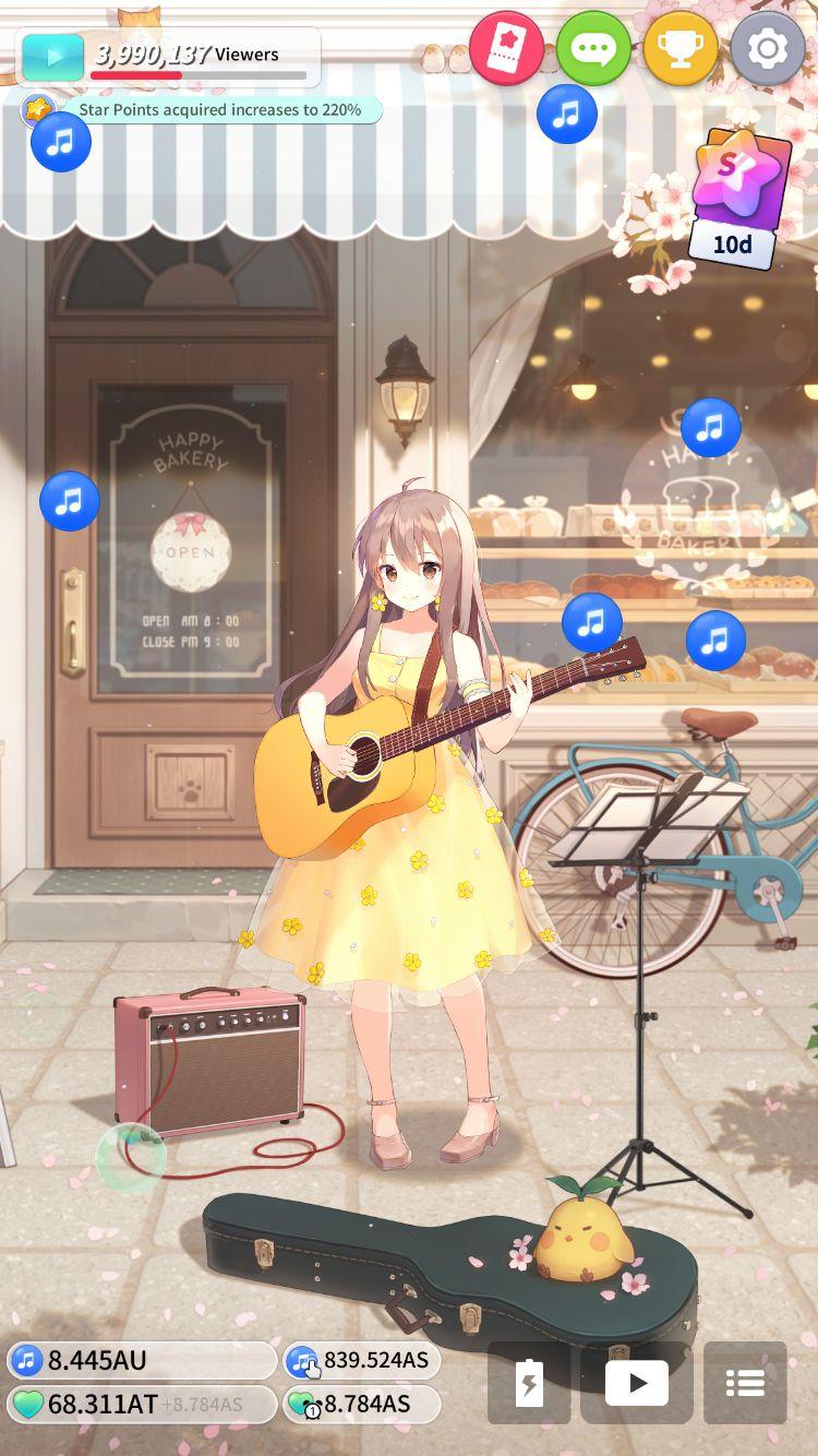 Guitar Girl : Relaxing Music Game screenshot 1
