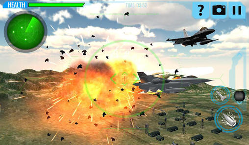 F18 army fighter aircraft 3D: Jet attack screenshot 4