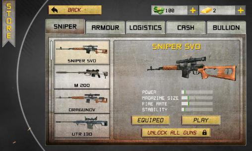 Sniper games The mission: Sniper in English