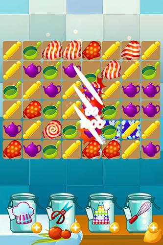 Arcade-Spiele Chef kitchen cooking: Match 3 für das Smartphone