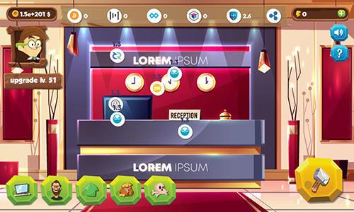 Arcade-Spiele Bitcoin miner idle clicker tycoon für das Smartphone