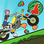 Hill dismount: Smash the fruits ícone