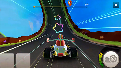 Starlit on wheels: Super kart para Android