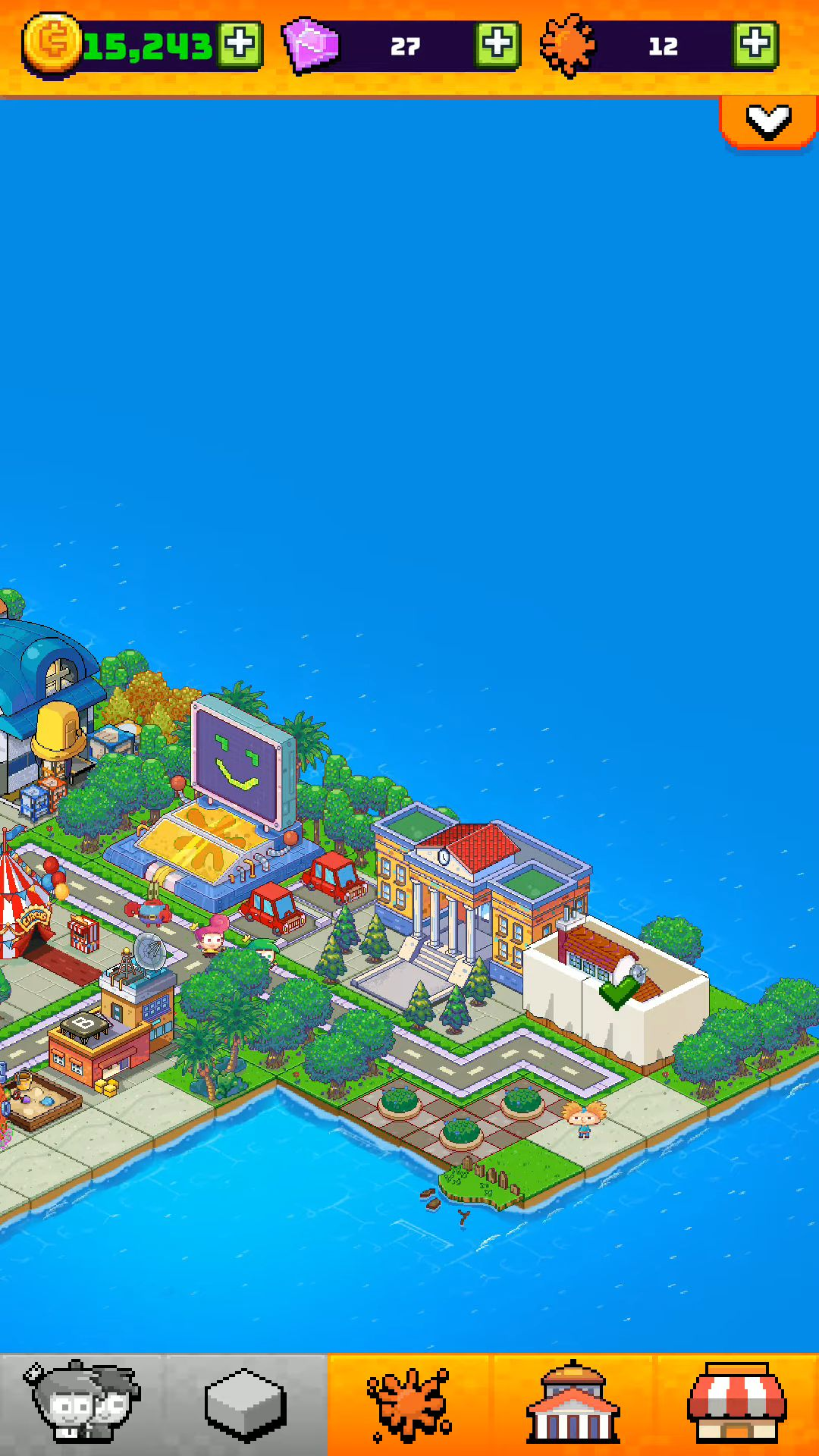 Nickelodeon Pixel Town captura de tela 1
