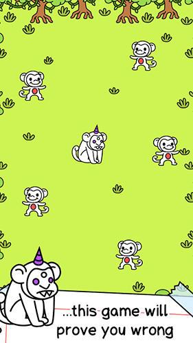 Arcade-Spiele Monkey evolution: Clicker für das Smartphone