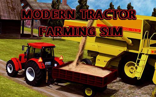 Modern tractor farming simulator: Real farm life Symbol