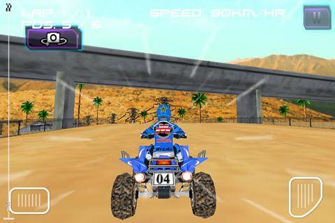 ATV quad racer in English