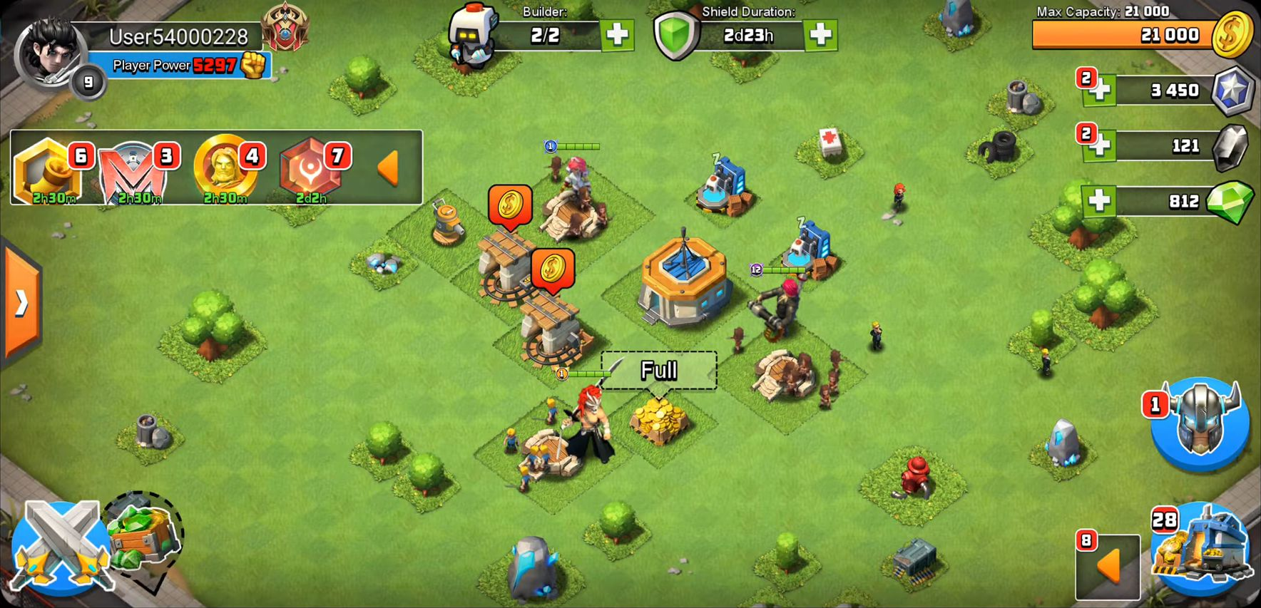 Clash of Kingdoms: Heroes War скриншот 3