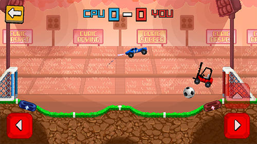 自動車のゲーム Pixel cars: Soccer の日本語版