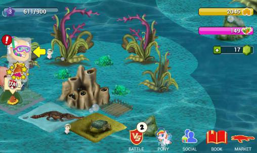Simulation games Dino water world for smartphone
