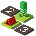 Tents and trees puzzles icono
