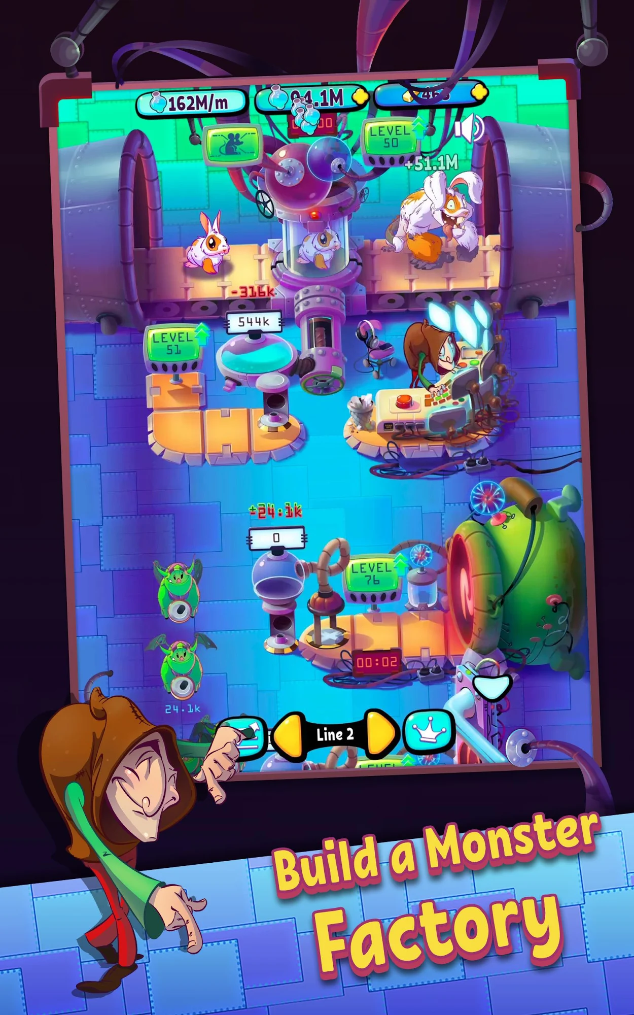 Clicker games Idle Monster Factory for smartphone