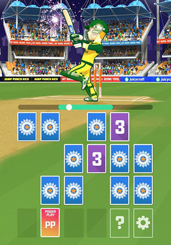 T20 card cricket in English