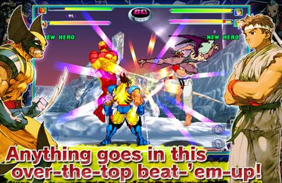 Multiplayer games: download MARVEL vs. CAPCOM 2 to your phone