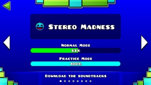 Arcade games: download Geometry dash to your phone