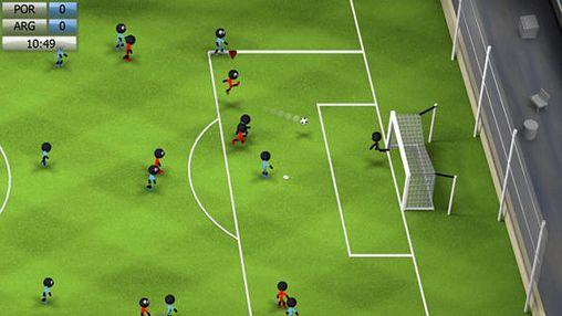 Strichmännchen Fußball 2014 für iPhone