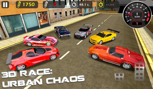 Rennspiele 3d race: Urban chaos für das Smartphone