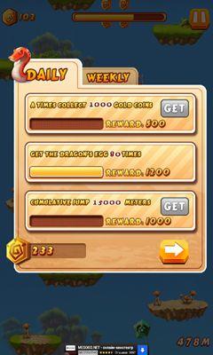 Caveman jump Screenshot