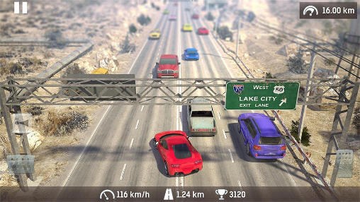 Traffic: Need for risk and crash. Illegal road racing pour Android