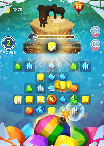 Arcade-Spiele Match Earth: Age of jewels für das Smartphone