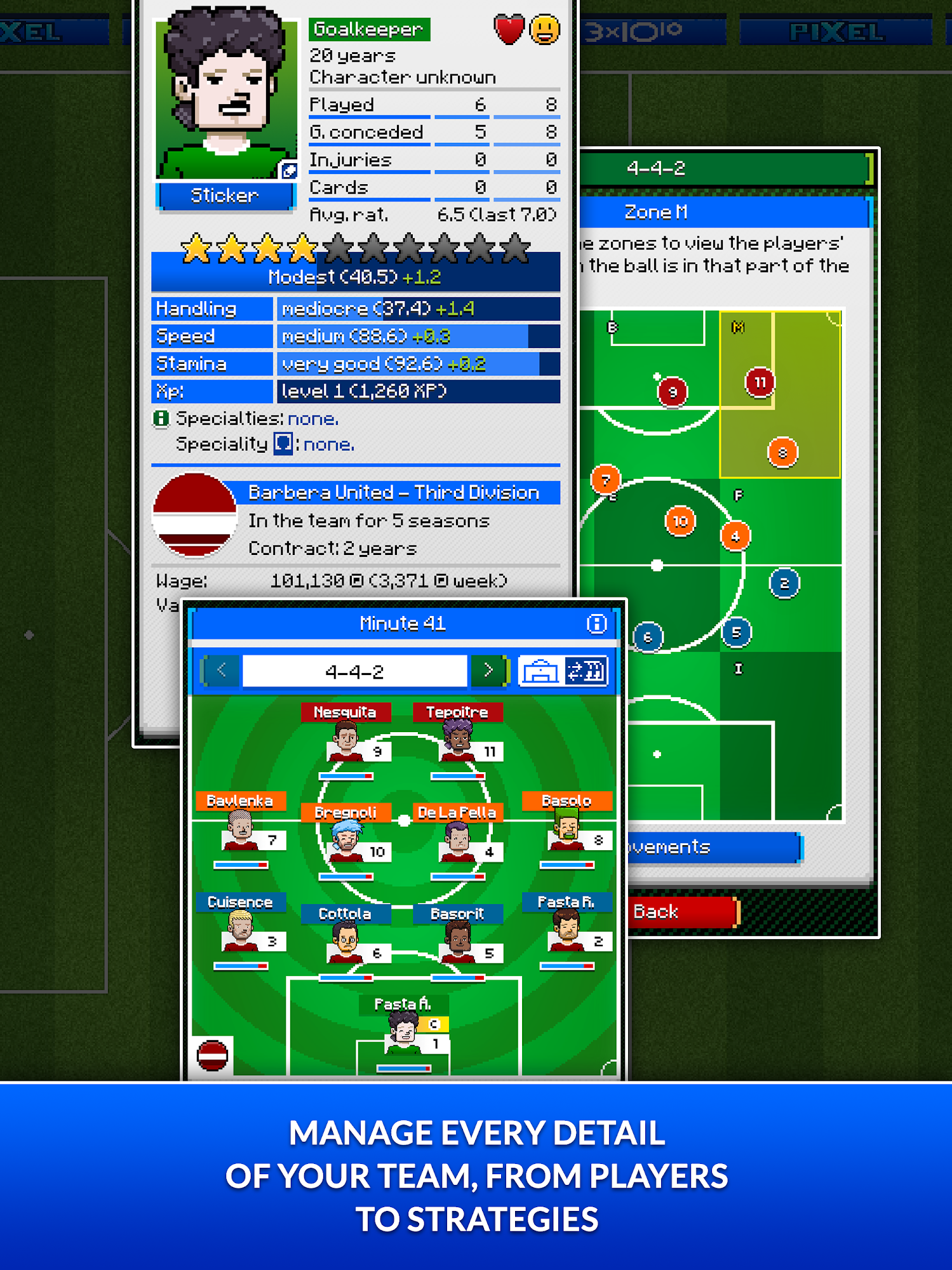 Андроид игра Pixel Manager: Football 2020 Edition
