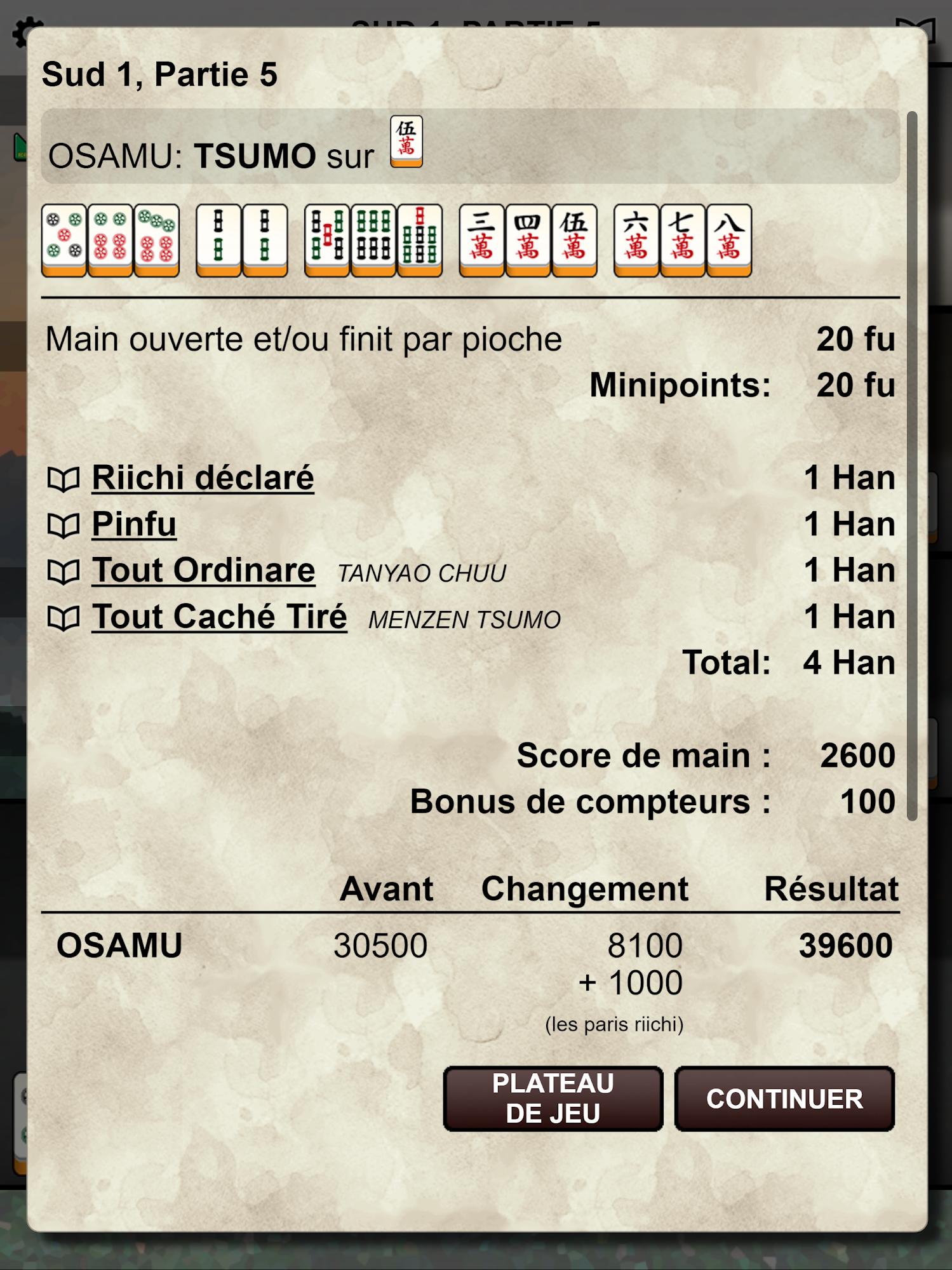 Kemono Mahjong capture d'écran 1