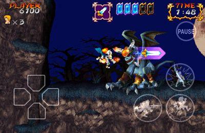 Captura de pantalla Fantasmas y Goblins contra Caballeros en iPhone