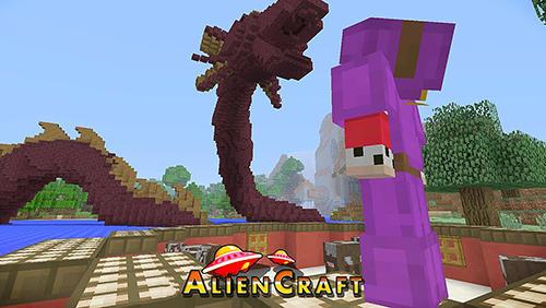 Aliencraft: Survive and craft captura de pantalla 1