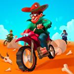 The escape: Motorcycle pursuit Symbol