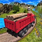 Truck driver cargo ícone