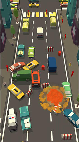 Car bump: Smash hit in smashy Road 3Dукраїнською