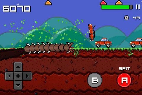 Arcade-Spiele: Lade Super Mega Wurm auf dein Handy herunter