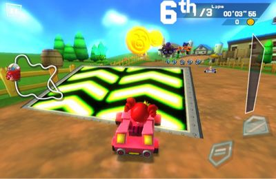 Captura de tela Mole Kart 2 Evolução no iPhone